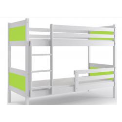 Dviaukštė lova Rino Balta/žalia