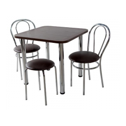 Virtuvinis stalas 2 kėdės su taburėte tulipan