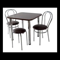 Virtuvinis stalas 2 kėdės su taburėte