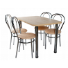 Kvadratinis metalinis stalas + kėdės