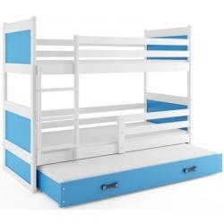Dviaukštė trivietė lova Rico - Balta