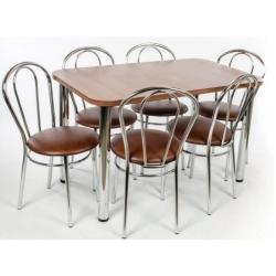 Virtuvinis stalas su 6 kėdėmis tulipan