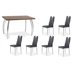 Valgomojo stalas su 6 kėdėmis