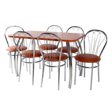 Komplektas Metalinis Stalas+6 kėdės