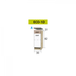 ECONO pastatoma spintelė ECO-1D