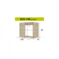 ECONO pastatoma kampinė spintelė ECO-14D (dešininė)