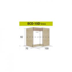 ECONO pastatoma kampinė spintelė ECO-15D (kairinė)