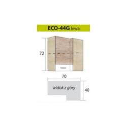 ECONO pakabinama kampinė spintelė ECO-44G (kairinė)