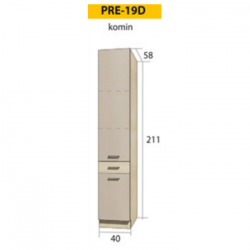 PREMIO pastatoma spintelė PRE-19D