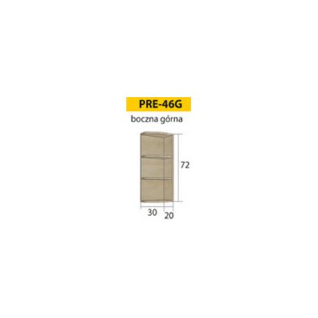 PREMIO pakabinama kampinė spintelė PRE-45G (kairinė)