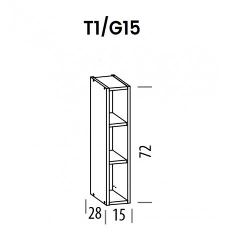 Pakabinama spintelė Tiffany T1/G15