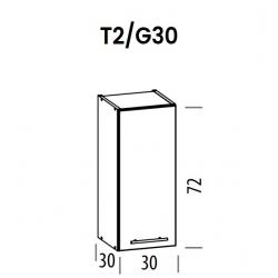 Pakabinama spintelė Tiffany T2/G30
