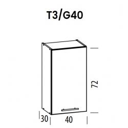 Pakabinama spintelė Tiffany T3/G40