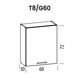 Pakabinama spintelė Tiffany T8/G60