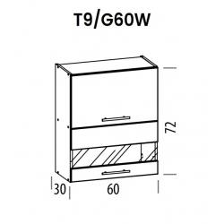 Pakabinama spintelė Tiffany T9/G60W