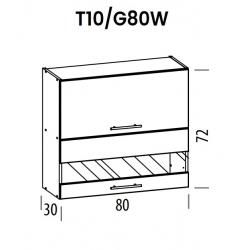Pakabinama spintelė Tiffany T10/G80W