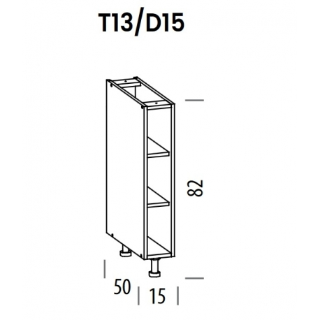 Pastatoma spintelė Tiffany T13/D15