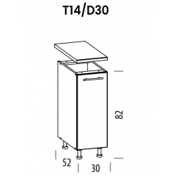 Pastatoma spintelė Tiffany T14/D30