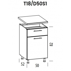 Pastatoma spintelė Tiffany T18/D50S1