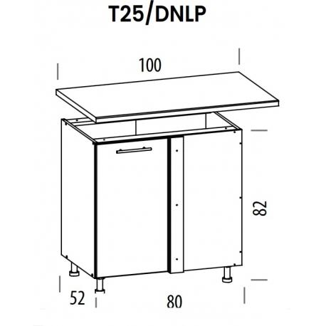 Pastatoma kampinė spintelė Tiffany T25/DNLP