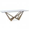 Svetainės/ Valgomojo stalas su stiklu